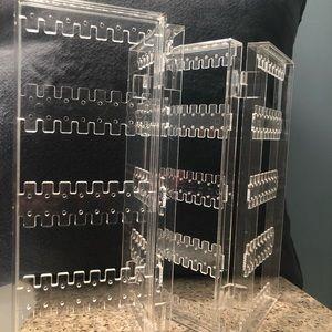 Clear Plastic Earring display